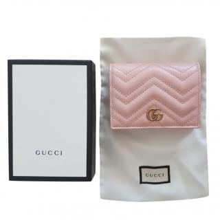 Gucci Pale Pink Marmont Card Case/Wallet