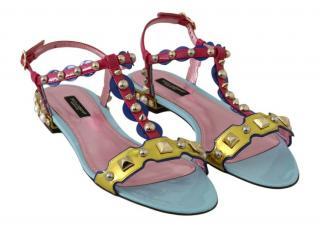 Dolce & Gabbana Multicoloured Metallic Sandals