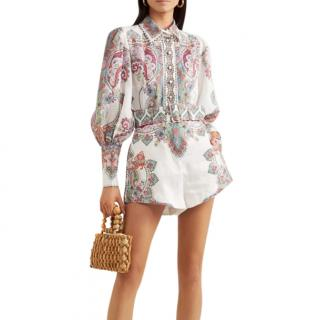 Zimmermann Ninety-Six printed ramie shirt