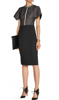 Roland Mouret Black Classic Pencil Skirt