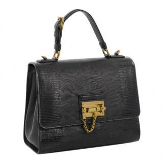 Dolce & Gabbana Monica Lizard Embossed Medium Bag