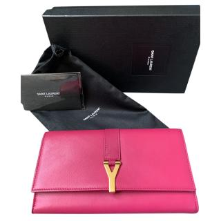 Saint Laurent Fuchsia Ligne Wallet