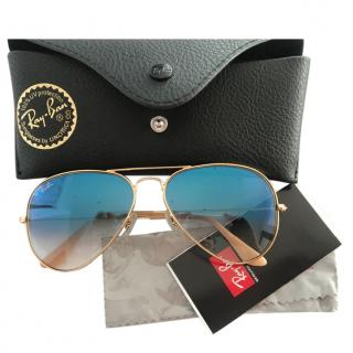 Ray Ban Blue Aviator Sunglasses