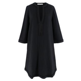 Bamford Black Cotton Tunic Dress