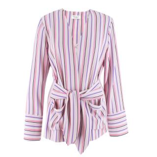 Hoffman Pink Striped Wrap Jacket