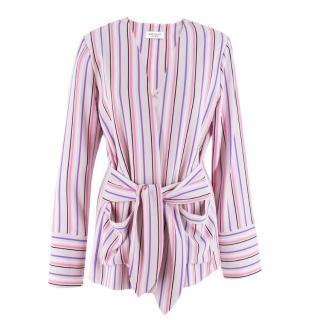 Hoffman Pink Striped Wrap Jacket