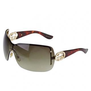 Gucci Tortoiseshell GG 2797/S Shield Sunglasses