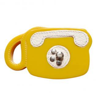 Prada yellow telephone brooch