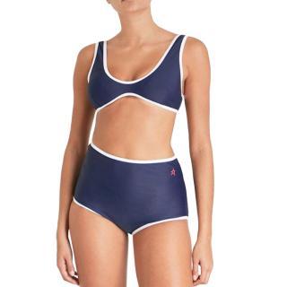 Perfect Moment Navy Retro High-waist Bikini