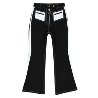 Ellery Pedestrian PVC Pocket Flared Cotton Blend Jeans