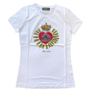 Dolce & Gabbana Milano Heart Print Top