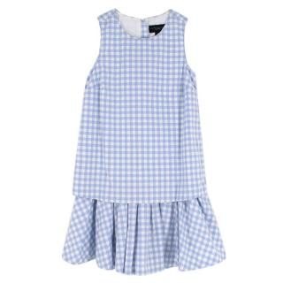 victoria Beckham for Target Girls Blue & White Checked Dress
