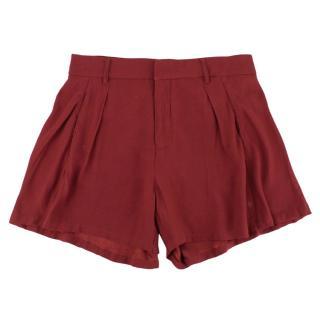 Gestuz Burgundy Ilona Tailored Shorts