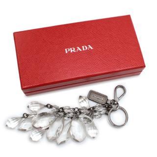 Prada Clear Crystal Keychain