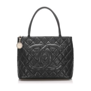 Chanel Caviar Leather Medallion Tote Bag