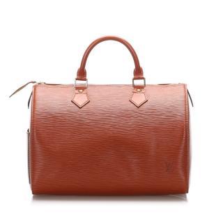 Louis Vuitton Epi Speedy 30 in Tan