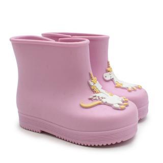 Vivienne Westwood Pink Kids Mini Melissa Unicorn Boots