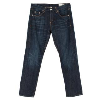 Rag & Bone Dark Blue Boyfriend Jeans