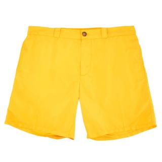 Be Swims Mens Yellow Swim Shorts