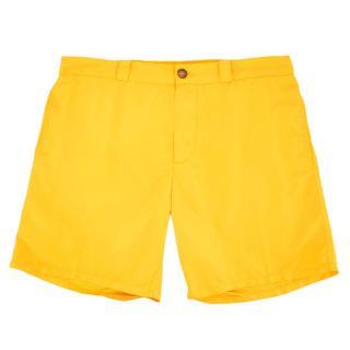 Be Swims Mens Yellow Swim Shorts
