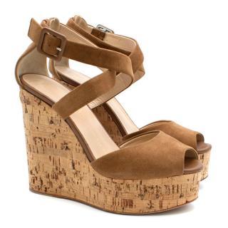 Giuseppe Zanotti Brown Platform Wedge Sandals