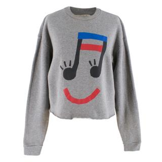 Etre Cecile Grey Music Face Jumper