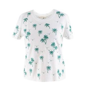 Maje White Tanzanie Palm Tree Tshirt