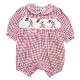 Rachel Riley Teddy Smocked BabySuit