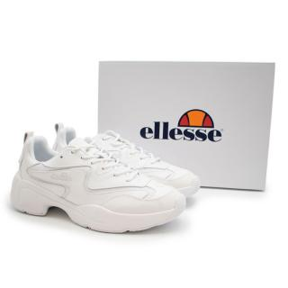 Ellesse White Chunky Indus Leather Sneakers
