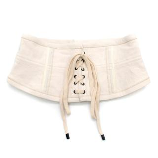 Isabel Marant Herese Lace-up Cotton-blend Corset Belt