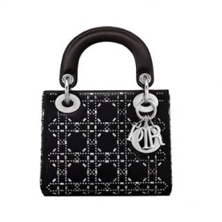 Dior Satin Crystal Embellished Mini Lady Dior Bag