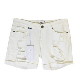 Paige White Denim Grant Shorts