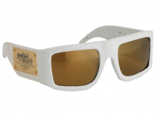 Linda Farrow x Jeremy Scott Sunglasses in Faux Crocodile Leather