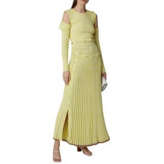 Christopher Esber Button-Embellished Stretch-Knit Maxi Dress