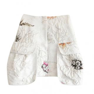 Fendi Hermione Lurex Floral Mini Skirt