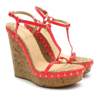 Christian Louboutin Pink Jamie Lee Wedge Sandals