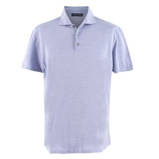 Donato Liguori Bespoke Tailored Blue Polo Shirt