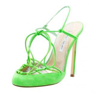 Manolo Blank Green Percha Sandals