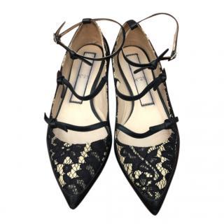 No.21 Lace Strappy Ballerina Flats