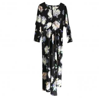 Stella McCartney Black Floral Print Dress
