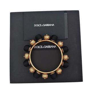 Dolce & Gabbana Black & Gold Bracelet