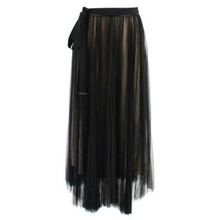 Interdee Black Tulle Midi Skirt
