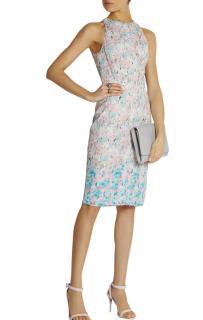 Nina Ricci silk-trimmed lace pastel dress
