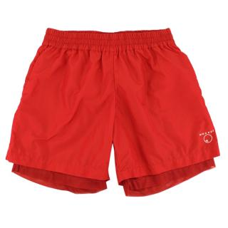 Komakino Red Discrot Swim Shorts