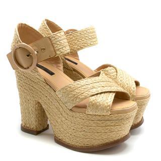 Louis Vuitton Braided Platform Sandals