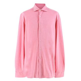 Doriani Pink Long Sleeved Cotton Shirt
