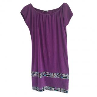 Emilio Pucci Purple Tunic with Printed Panels