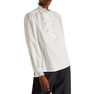 Stella McCartney white cotton-poplin Meredith blouse