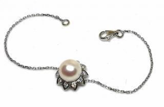 Bespoke French Akoya Pearl & Diamond Bracelet