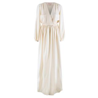 Roksanda Ilincic Ivory Crepe Wool Button Down Gown